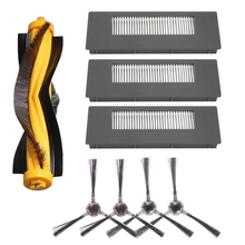 Replacement Filter and Brush Kit for ECOVACS DEEBOT 900 901 Robotic Vacuum Accessories - 8 Pack (3x Filter + 4x Side Brush+1x Ma 2x dust hepa filter 1x agitator brush 4x side brush kit for ecovacs deebot deepoo cr130 plus cr131 ilife v7 robot cleaner