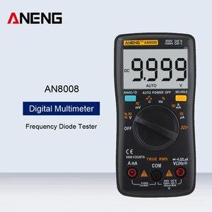 ANENG AN8008 Profesional Digitale Multimeter Transistor Tester Elektrische Meter AC/DC Volt Amp Ohm Kapazität Frequenz Diode Test