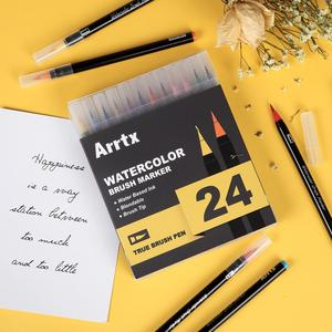 Image 5 - Arrtx 24/48 Colors True Brush Marker Pens Professional Water Based Markers Washable & Nontoxic Flexible Brush Tips for Painting