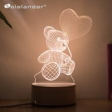 Najnowszy Love 3D lampa w kształcie serca balon akrylowa LED dekoracyjna lampka nocna stołowa lampy walentynki kochanie żona prezenty