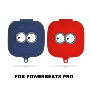 Image 2 - Милый силиконовый чехол для наушников Beats Powerbeats Pro, чехол для беспроводных наушников, Bluetooth наушники, аксессуары, Противоударная коробка