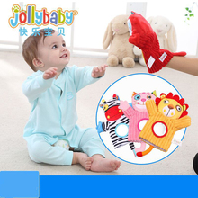 New Jollybaby Happyybaby Animal Puppets Early Learning Enlightenment Toys Parenting Game Plush Toys Hand Puppets Gloves for Kids living puppets кролик