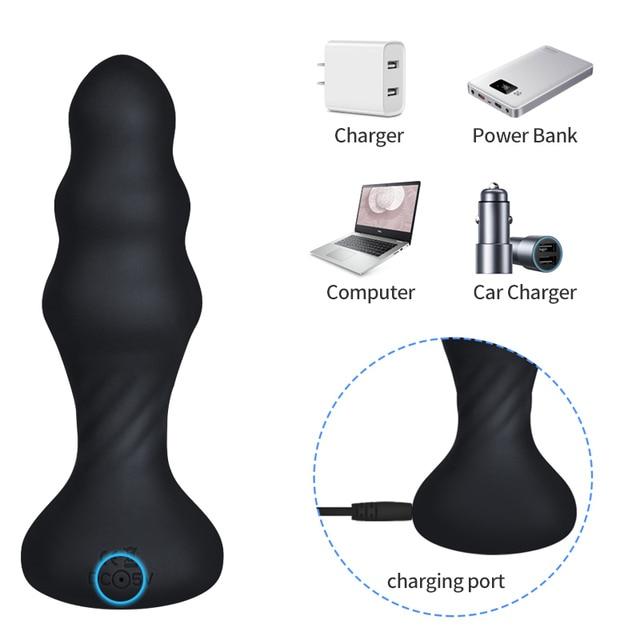 Anal Plug Vibrators For Men Prostate Massager Masturbators Women Vagina Stimulator Dildos Remote Control Male Anus Butt Sex Toys 4