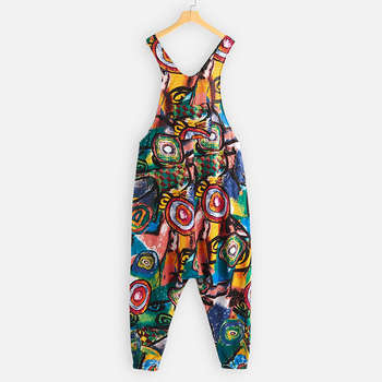 Plus Size ZANZEA Summer Overalls Women Vintage Sleeveless Floral Printed Harem Jumpsuits Rompers Pants Femme Playsuits Dungarees 6