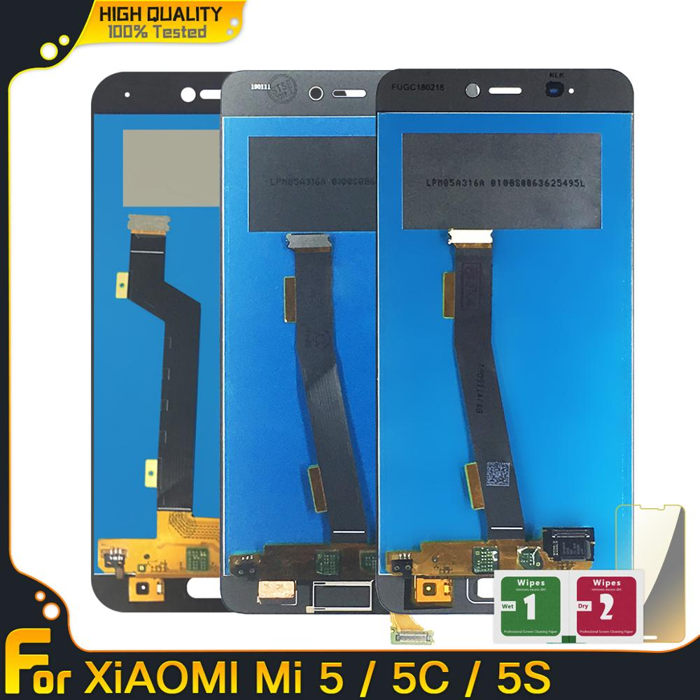 5.15'' LCD For Xiaomi Mi 5 5C 5S LCD Display Touch Screen Digitizer Panel Assembly Replacement For Xiaomi Mi5 Mi5c Mi5s