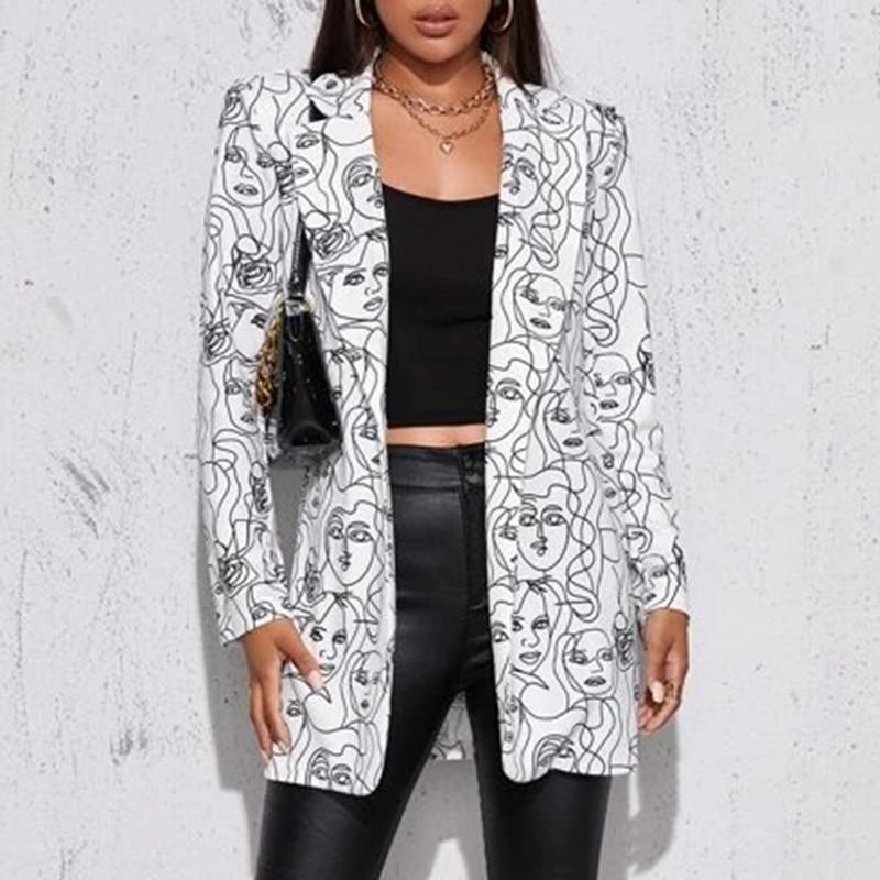 H8247f4474525469bb634e3ed1992f070n Fashion Trend Women Lapel Leopard Print Long Sleeves Suit Jacket Elegant Fall Winter Office Lady Cardigan Coat Casual Streetwear