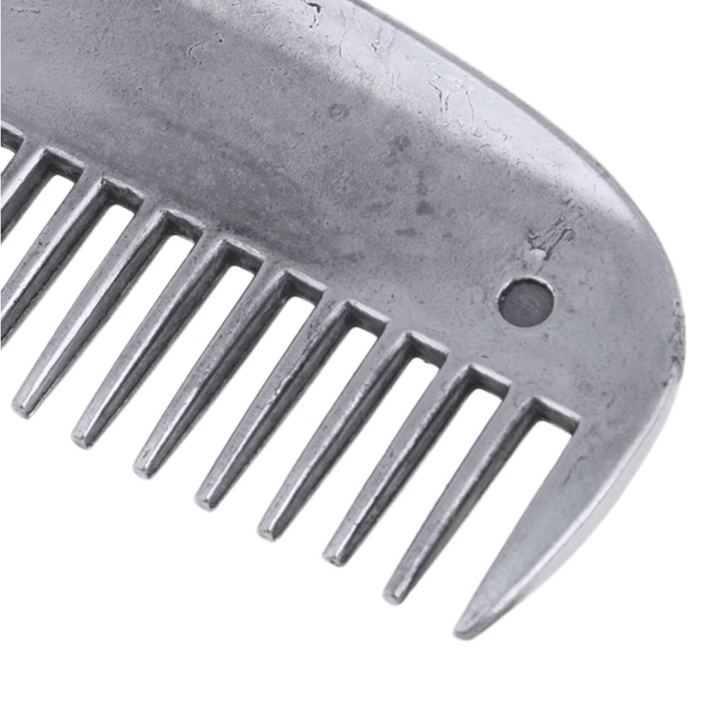 Horse Metal Curry Comb Horse Grooming Care Farming Performance Tool Supplies