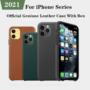 Oficjalna oryginalna oryginalna PU skórzane etui Logo dla iPhone 12 Pro XS Max X XR pokrywa dla iPhone 11 Pro Max 7 8 Plus 12 Mini etui tanie i dobre opinie APPLE CN (pochodzenie) Częściowo przysłonięte etui Geniune PU Leather Case for iPhone 11 12 Pro Max Mini Zwykły