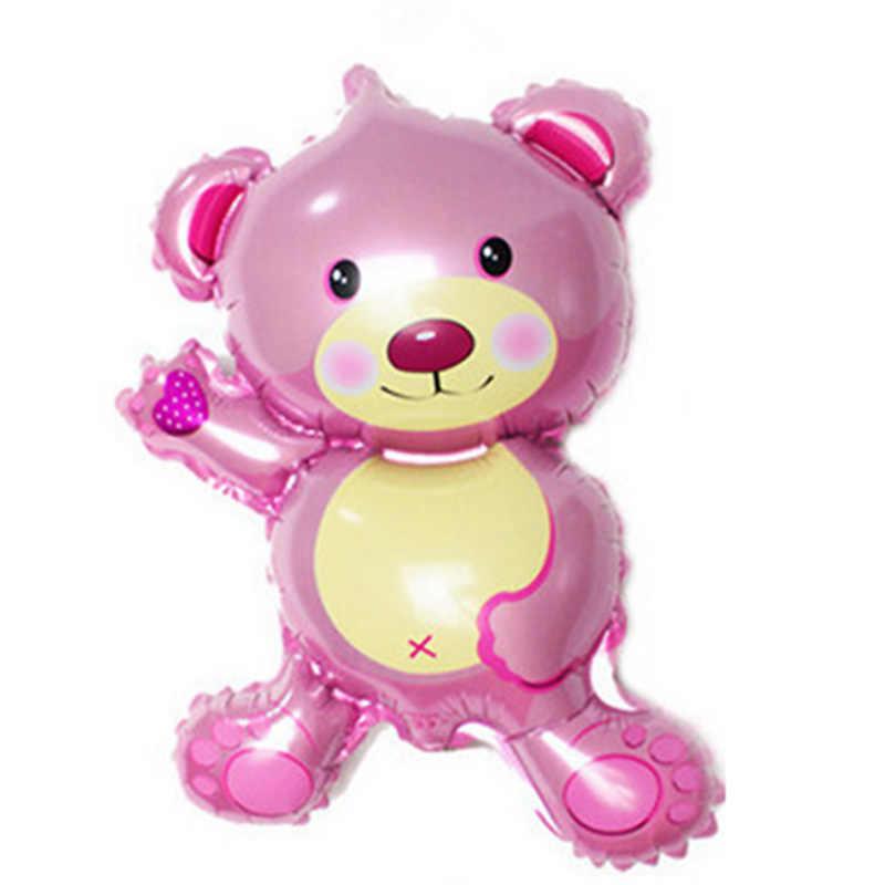 1 قطعة دب صغير جميل الألومنيوم احباط بالون هدايا عيد ميلاد لعبة ديكور حفلات الدب أفضل بالون صغير الكرتون F6T9