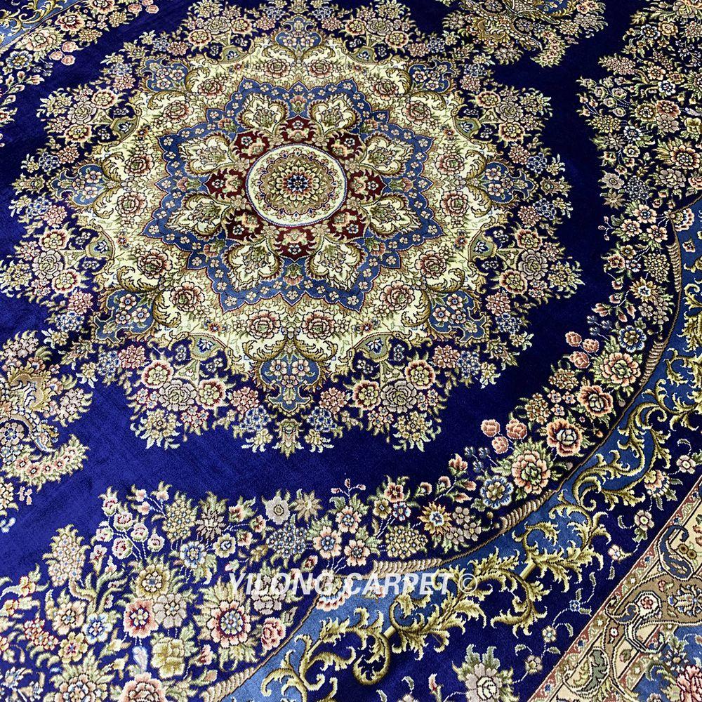 Yilong 6'x9 'Vantage persain alfombra de dormitorio azul oscuro hecha - Textiles para el hogar - foto 5