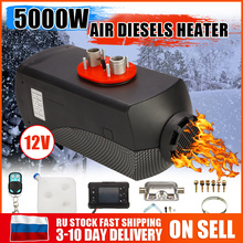 Car Diesels Air Parking Heater 5KW 12V 2 Air Outlet With Remote Control LCD Monitor For RV Motorhome Trailer Trucks Boats