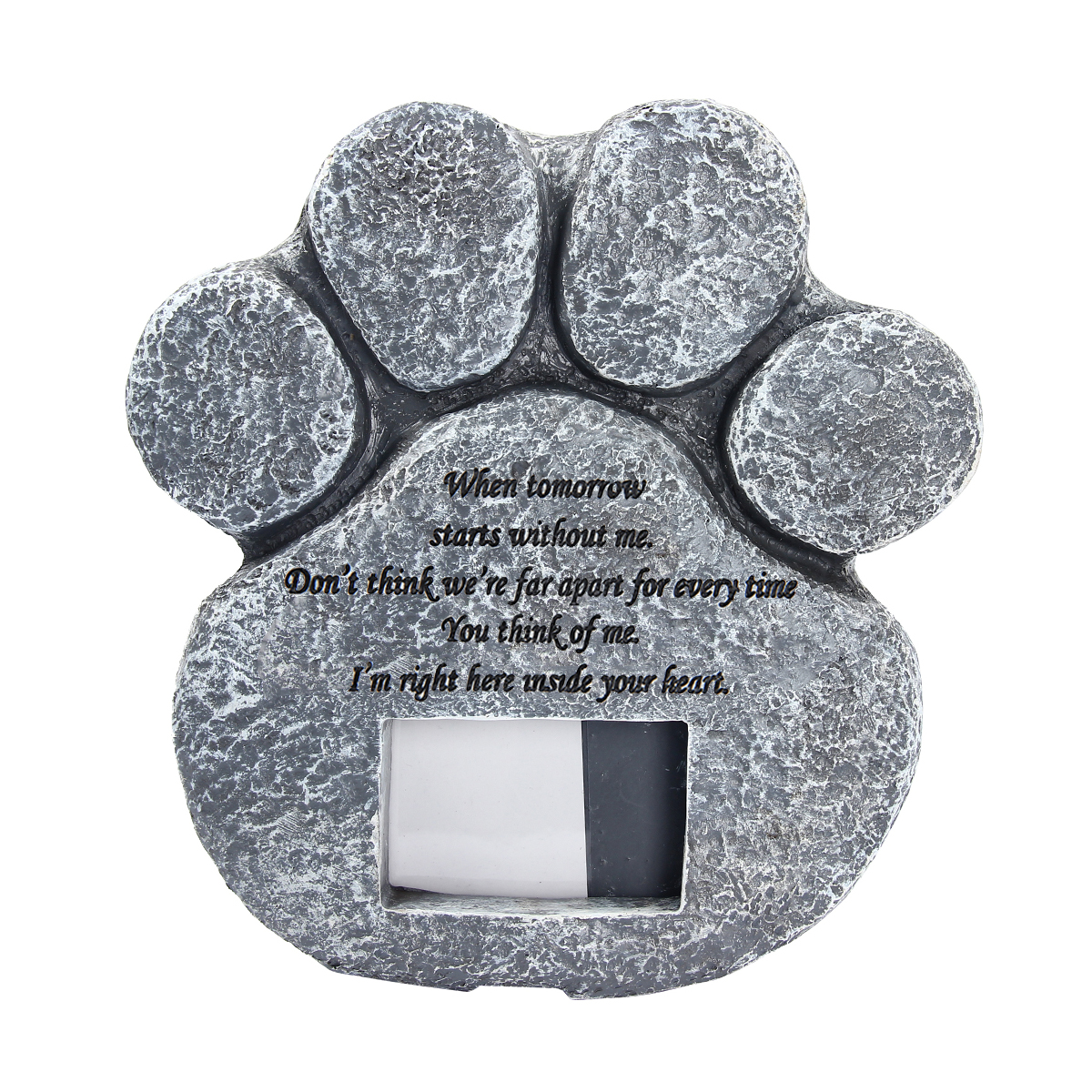 Pet Memorial Stone Paw Print Photo Frame Grave Pet Monument Tombstone For Dogs Cats Animal Funeral Tombstone