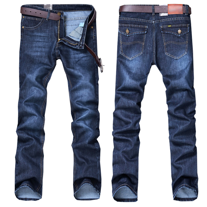 New Style Jeans Men's Four Seasons Straight Slim Youth Casual Versatile Large Size Trousers MEN'S Trousers