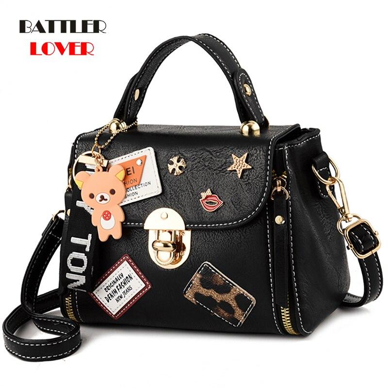 womens brand medium large capacity ladies totes zipper bear strap thread shopping office women crossbody shoulder bag handbags