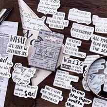 46 stücke Vintage Englisch Zeitung Papier Nette Aufkleber Retro Schreibwaren DIY für Handwerk Tagebuch Scrapbooking Planer Label Aufkleber