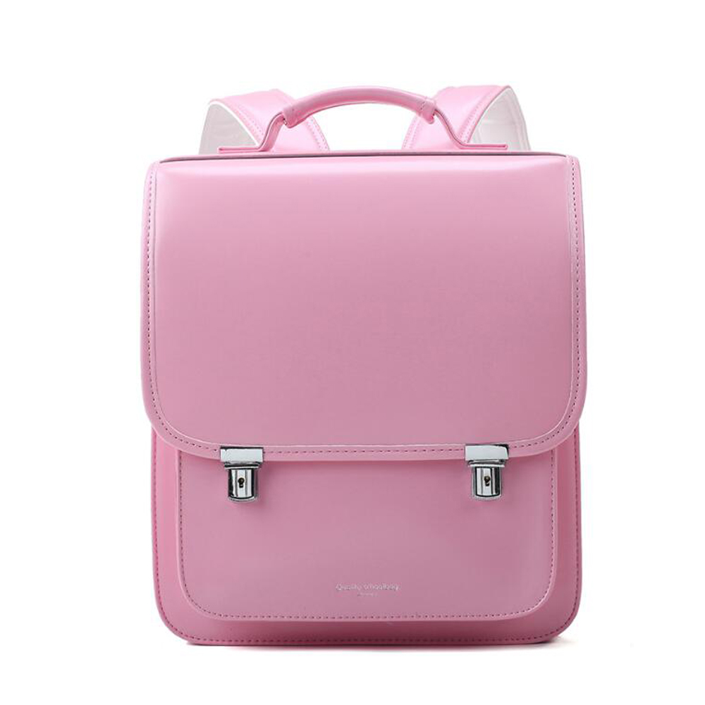 2019 NEW Japan Style Children School Bag For Kid Orthopedic Backpack School Students Bookbags PU Leather Randoseru Baby Bags