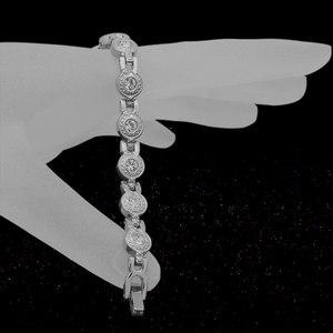 Image 5 - Escalus Vrouwen Zilveren Magnetische Roestvrij Stalen Armband Mooie 13pcs Branded Crystal Bangle Dames Partij Verjaardagscadeau