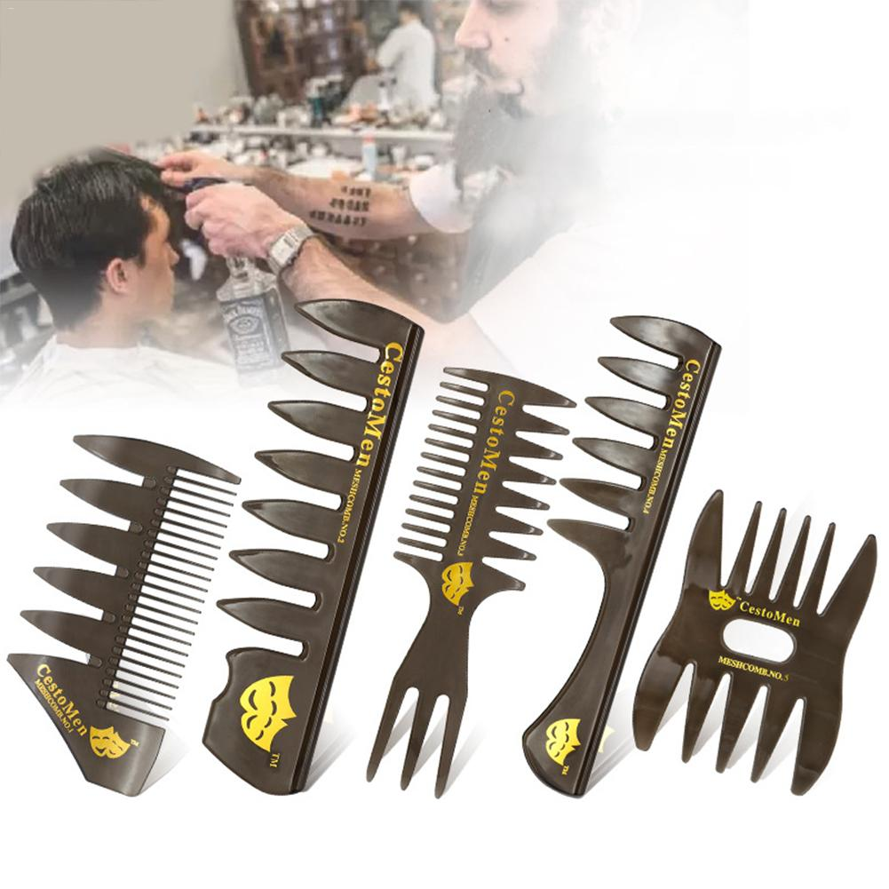 New Style Men 39 s Gentleman Large Wide tooth Comb Plane Styling Hairdressing Comb Bone Shape Fish Tail Texture Comb Hair Brush in Combs from Beauty amp Health