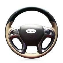 Flechten Abdeckung für Lenkrad für Hyundai ix35 2011 2015 Tucson 2 2010 2011 2012 2013 2014 2015 Lenkung rad Abdeckung