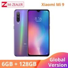 Globalna wersja Xiao mi mi 9 mi 9 telefon komórkowy 6.39 cala 6GB RAM 128GB ROM Snapdragon 855 octa core 48MP + 16MP potrójne kamery Xio mi