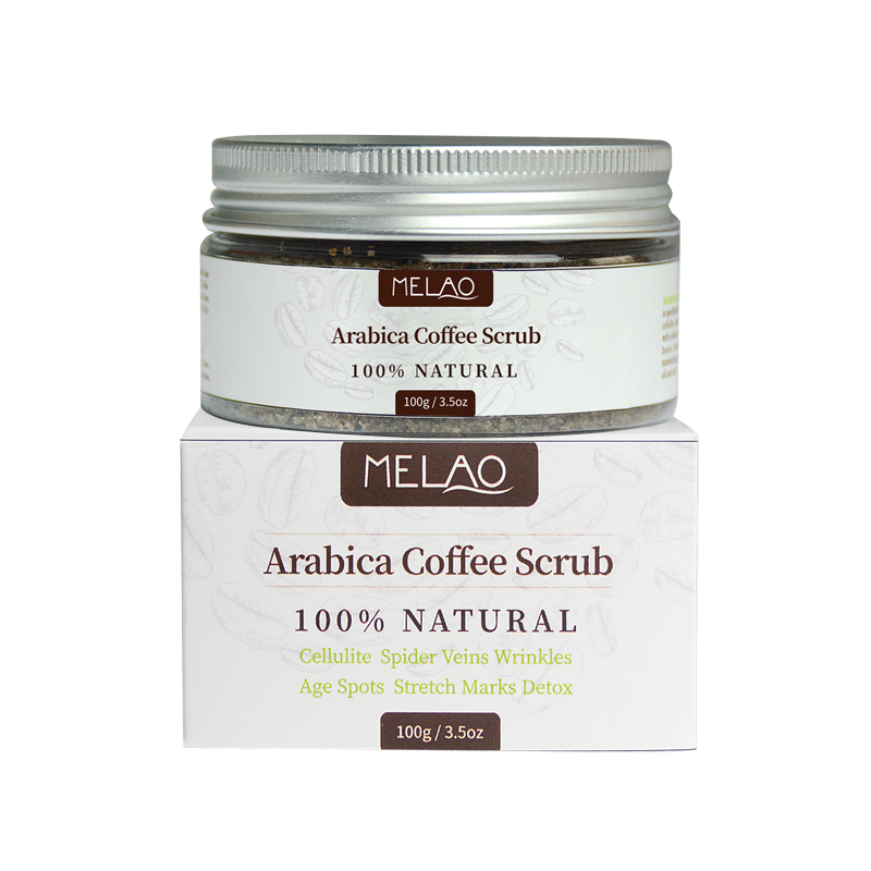 Natural Arabica Coffee Scrub Organic Coffee Shea Butter Best Acne Anti Cellulite Exfoliating Whitening Moisturizing