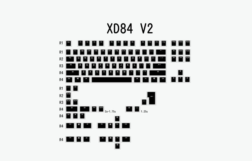 布丁V2-黑白-XD84 V