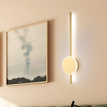 New personality strip wall lamp LED modern minimalist staircase sword aisle lamp bedroom bedside lamp