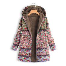 Women jacket new large size casual printing warm cotton Coat winter ladies plus sweater thick 4XL 5XL