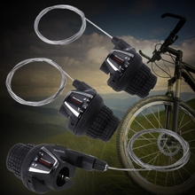 Bicycle Twist Grips Shifter Gear Right Left Hand Lever Derailleur For Shimano shimano x t r sl m9000 thumb shifter left