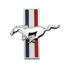 Car Styling 3D Metal Sticker Logo Badge Emblem Car Side Fender Rear Trunk Decal Suitable for Ford Mustang Decorative Accessories
