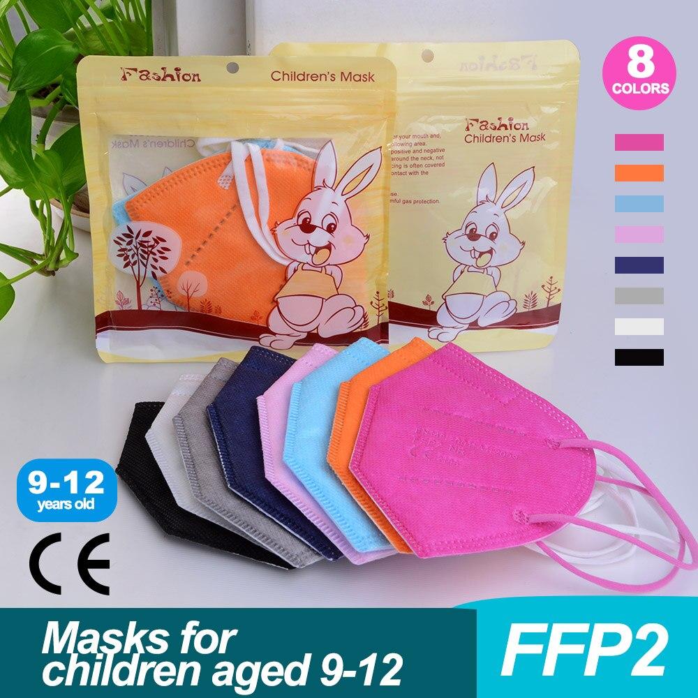 10-100 шт. kn95mask детская масок для детей ffp2 ребенка kn95 для мальчиков и девочек респиратор fpp2 защитный ffp2mask kn95 mascarillas детей