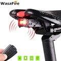 Велосипедный задний светильник + анти-вор сигнализационный USB зарядка Беспроводной дистанционного Управление светодиодный задний фонарь п...