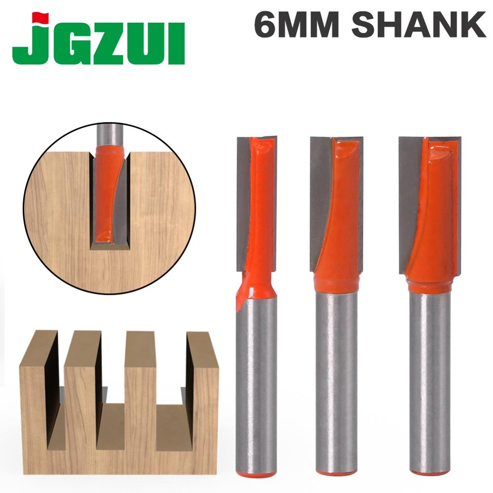JGZUI1pc 6mm Shank Cleaning Bottom Engraving Bit Solid Carbide Router Bit Woodworking Tools CNC Milling Cutter Endmill For Wood