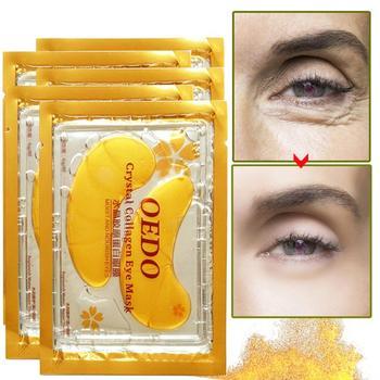 الذهب الكولاجين العين قناع المرأة المضادة للتجاعيد مكافحة الشيخوخة دائم ترطيب تغذي إزالة الدوائر السوداء بقع العين جديد TSLM1
