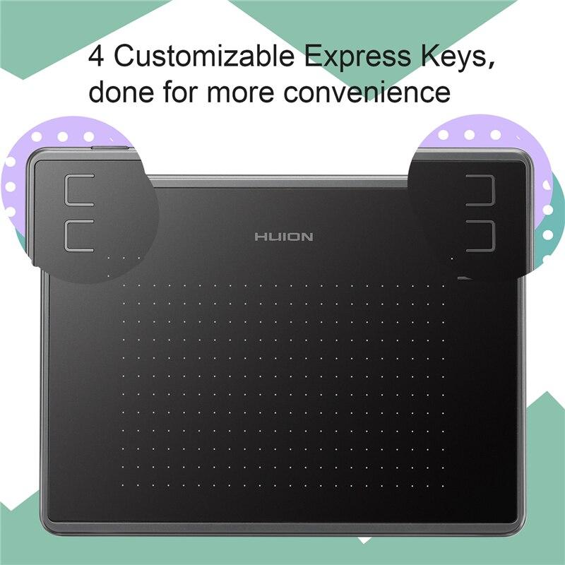 Image 5 - HUION H430P цифровые планшеты с графическим рисунком фирменная  ручка планшет OSU игровой планшет с аккумулятором стилус с подарком-in  Цифровой планшеты from Компьютеры и офисная техника on AliExpress