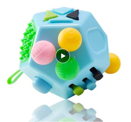 12 Side Anti Stress Cube Fidget Toy Stress and Anxiety Relief Depression Anti Cube for Children and Adults New Fashion Cube