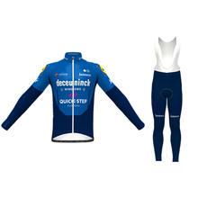 2021 rapide étape équipe course Champion vêtements printemps/automne hommes bleu manches longues cyclisme Maillot costumes aller Pro Ciclismo Maillot