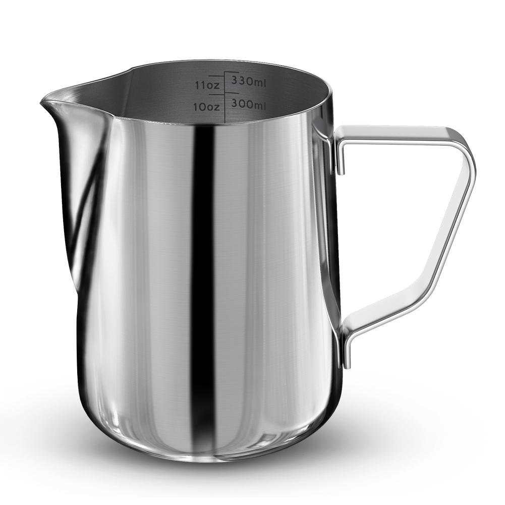350 مللي الحليب Frother كوب إسبرسو 304 الفولاذ المقاوم للصدأ القهوة كابتشينو لاتيه الفن الحليب رغوة إبريق القهوة شحن مجاني