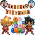 Вуконг» дракона из мультфильма в японском стиле «С Днем Рождения вечерние поставки баннер воздушных шаров из латекса, праздничный комплект...