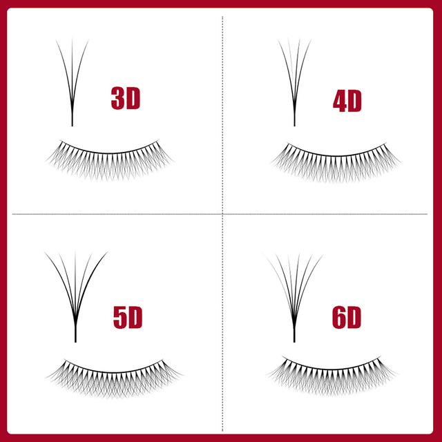 VeryYu Eyelashes 3D-6D Premade 12 Lines Eyes Care Personal Care  VeryYu the Best Online Store for Women Beauty and Wellness Products