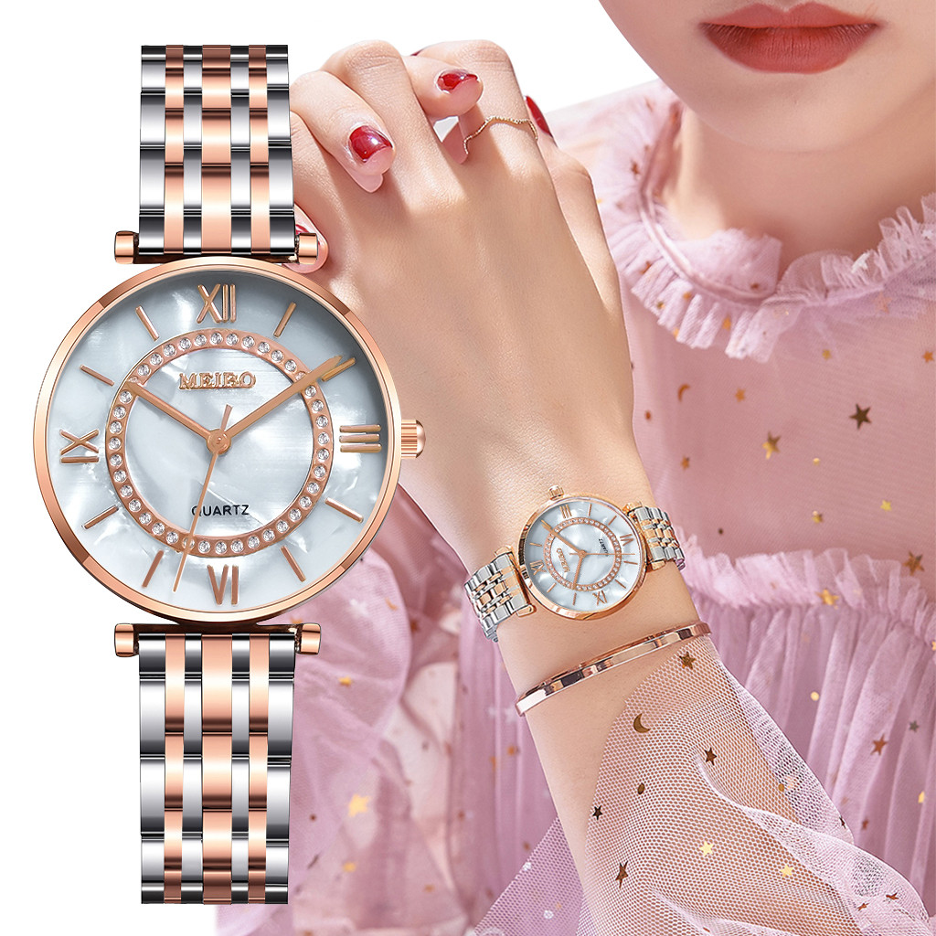Brand Women's Watches Quartz Stainless Steel Bracelet Watch Women Business Watch Dress Luxury Ladies Watches Zegarek Damski #W