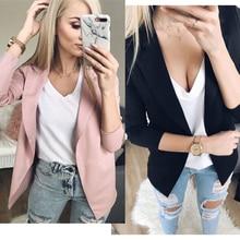 2019 Fashion Women Casual Suit Coat Business Blazer Long Sleeve Jacket Outwear L