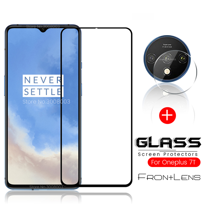 2-in-1 Camera Glass + Screen Protector Tempered Glass For Oneplus 7t Protective Glass On One Plus 7 T T7 Safety Glass Oneplus7t