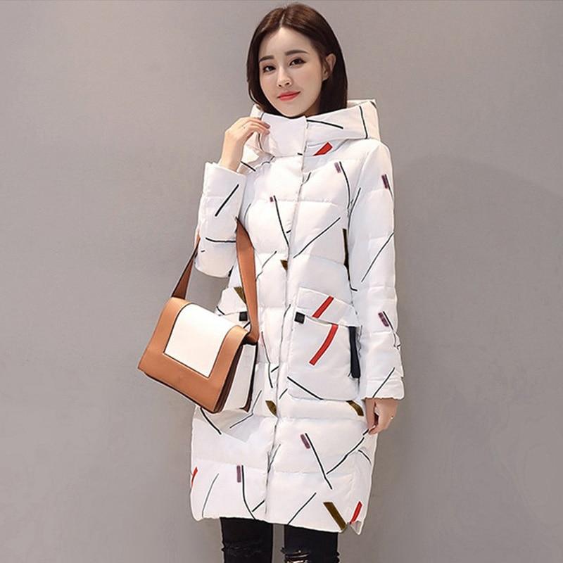 Elegant Long Sleeve Warm Zipper Parkas Women Jacket Office Lady 2019 New Fashion Winter Hooded Long