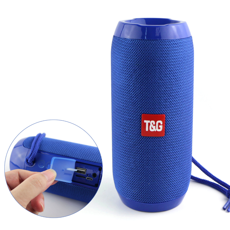 Portable Bluetooth Speaker Wireless Bass Column Waterproof Outdoor USB Speakers Support AUX TF Subwoofer Loudspeaker TG117(China)