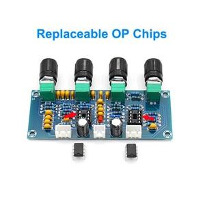 Image 2 - Dual NE5532 Repalceable tone Preamp Board Audio treble bass adjustment equalizer Pre amplifier Tone Control Preamplifier