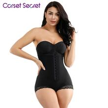 Corset Secret Women Body Shaper Queen Size Hook Front Mesh Hiphugger