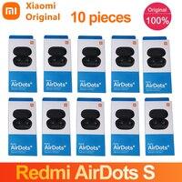 Xiaomi-auriculares Airdots S Tws con Bluetooth 5,0, auriculares inalámbricos originales con botón y micrófono Voic, 10 Uds./venta al por mayor