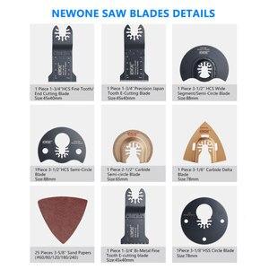 Image 3 - NEWONE набор быстроразъемных пильных лезвий, Осциллирующий набор многофункциональных инструментов Fein Dremel Multi Max, как резак из дерева и металла