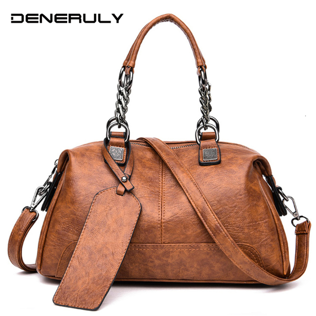 Famous Brand Women Leather Bag Female 2019 crossbody Fashion Chain Bags luxury handbags women bags designer Shoulder Bag Handbags Woman Vintage Top-handle Bag Ladies Hand Bag bolsas de luxo mulheres sacos de designer